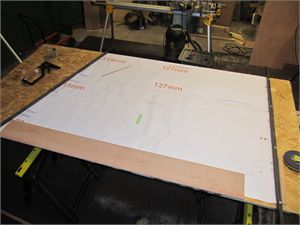 Full sized plans on which the relevant board is built.